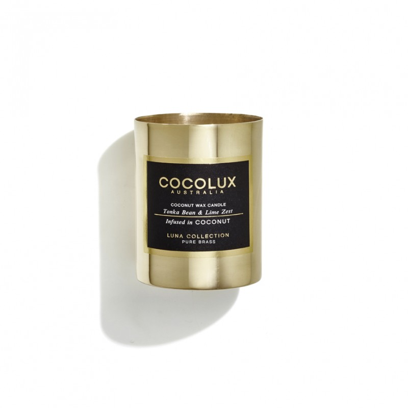 Cocolux Candle-Tonka Bean & Lime Zest