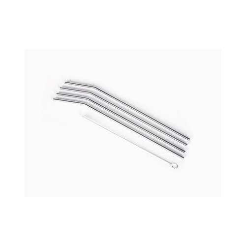 Stainless Steel Straws Set - 24cm