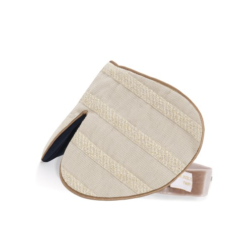 Cotton Gold Stripe Eye Mask
