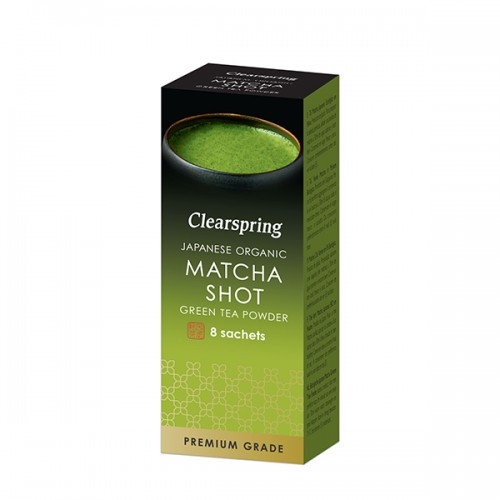 Matcha green tea powder shot sticks